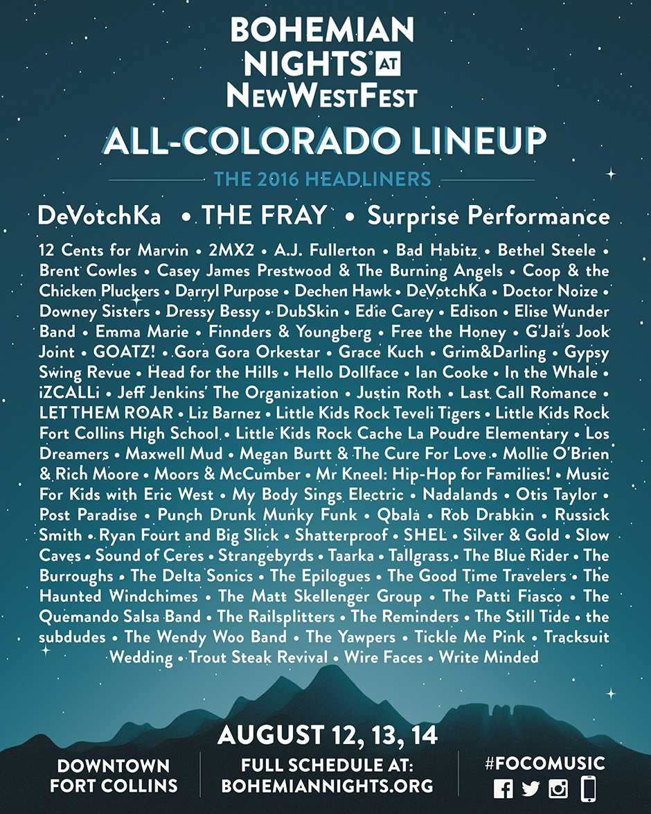 All Colorado Lineup Announcement